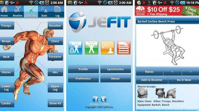 Stay fit with Jefit