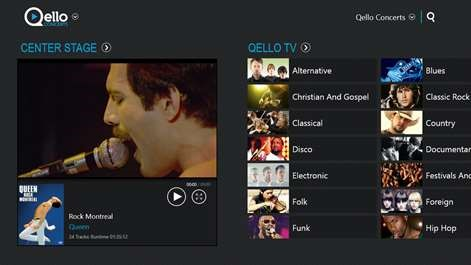 Qello Concerts: Letting you be in any concert you want